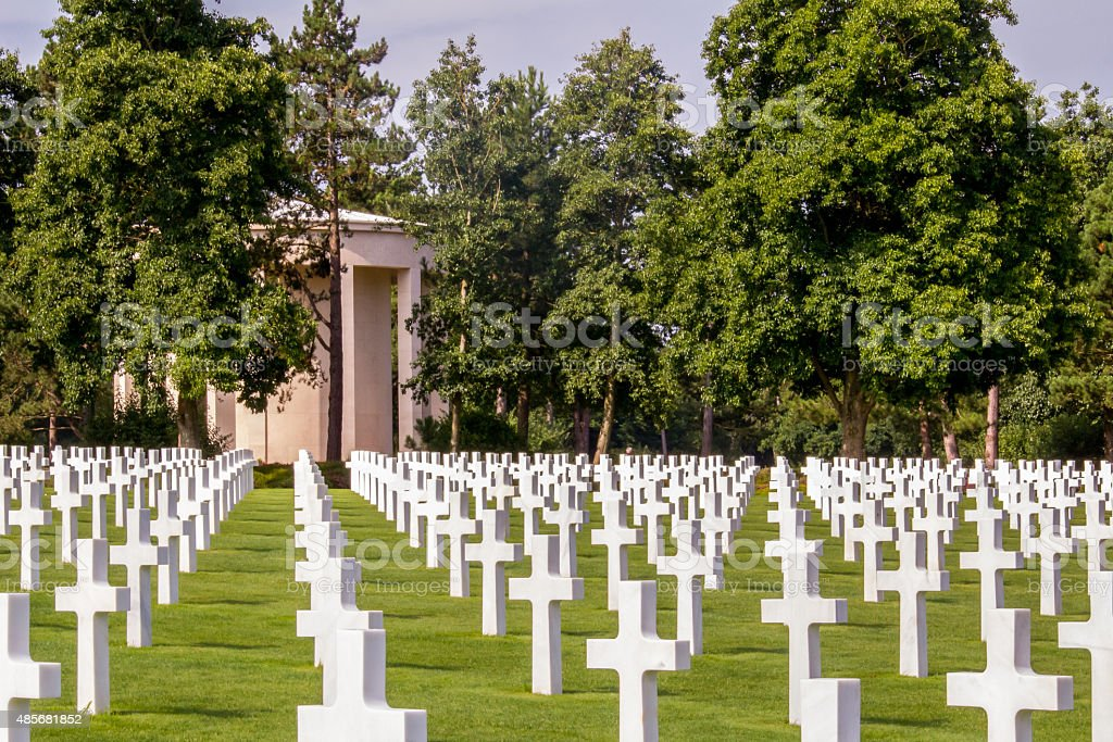Normandy American War Cemetery for US casualties of war. stock photo