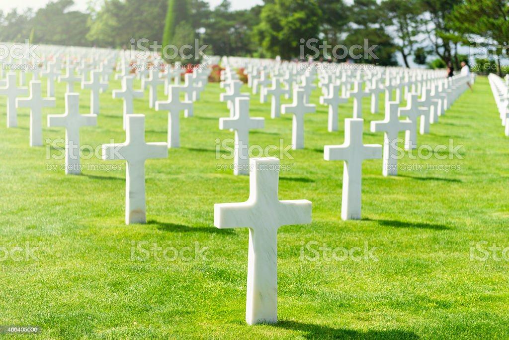 Normandy American War Cemetery stock photo
