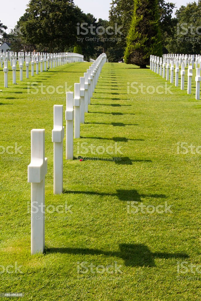 Normandy American War Cemetery stock photo