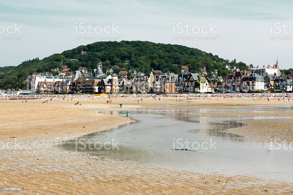 Normandy beach stock photo