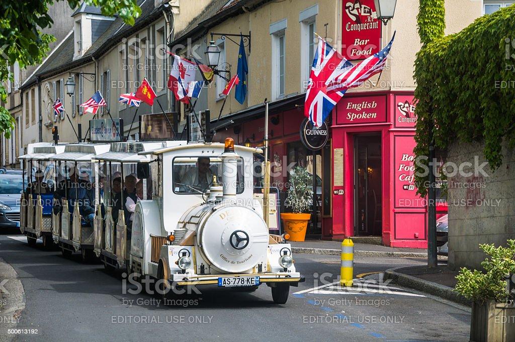 Normandy Tourist Tram stock photo