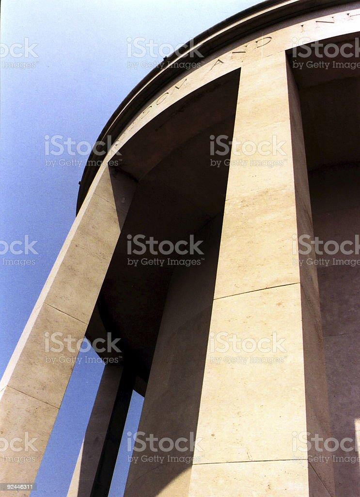 Normandy World War II Monument stock photo