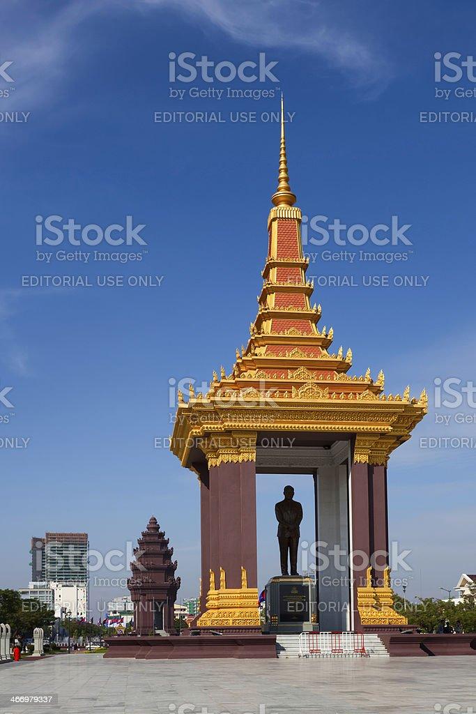 Norodom Sihanouk monument royalty-free stock photo