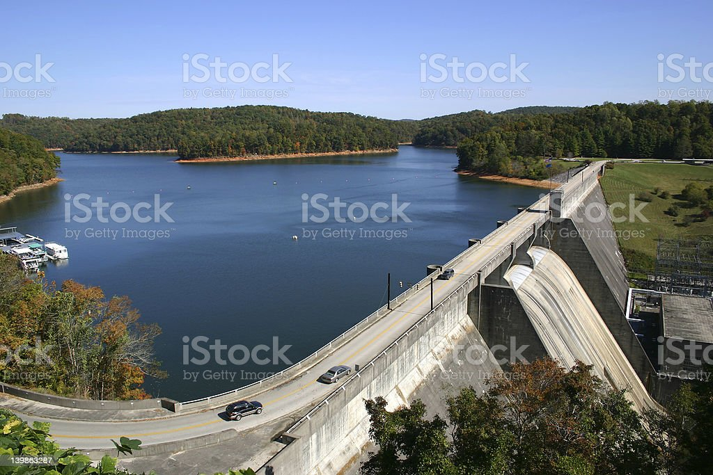 Norris Dam in East Tennessee. stock photo