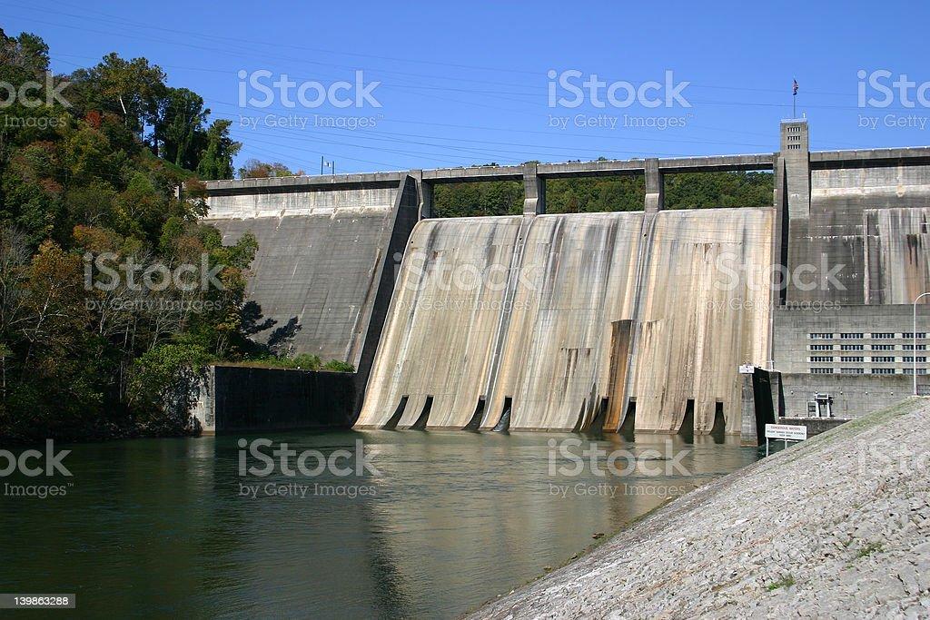 Norris Dam royalty-free stock photo