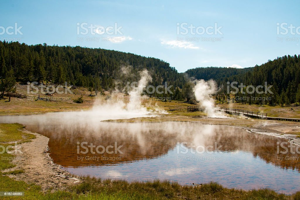 Norris Geyser Basin, Yellowstone National Park stock photo