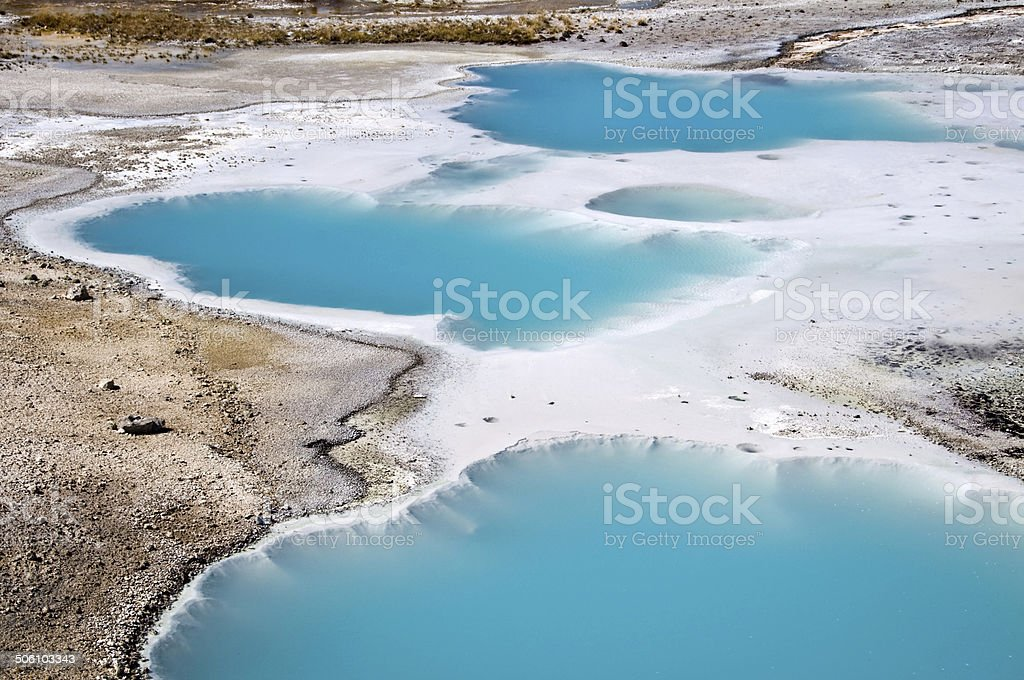 Norris Geyser Basin, Yellowstone National Park USA stock photo