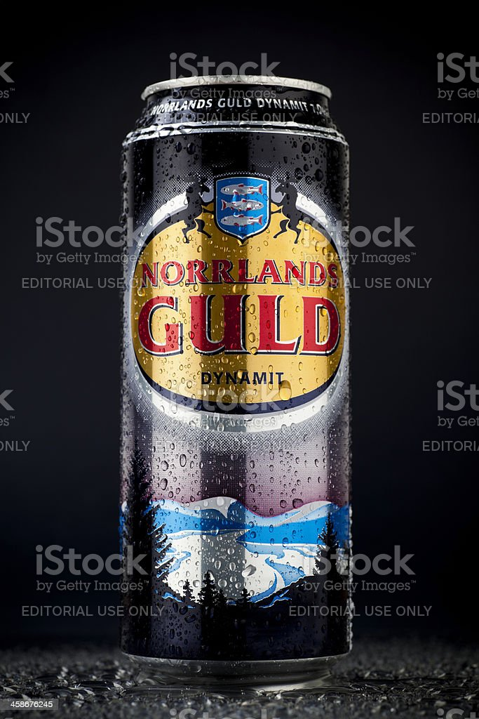 Norrlands Guld beer can stock photo
