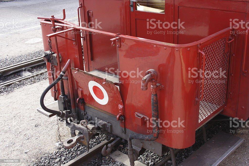 Norrow gauge wagon stock photo