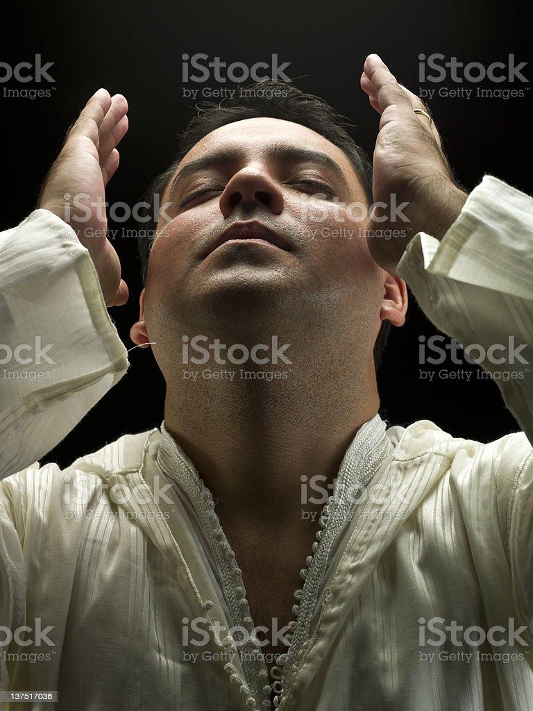 North African Muslim Man Praying stock photo