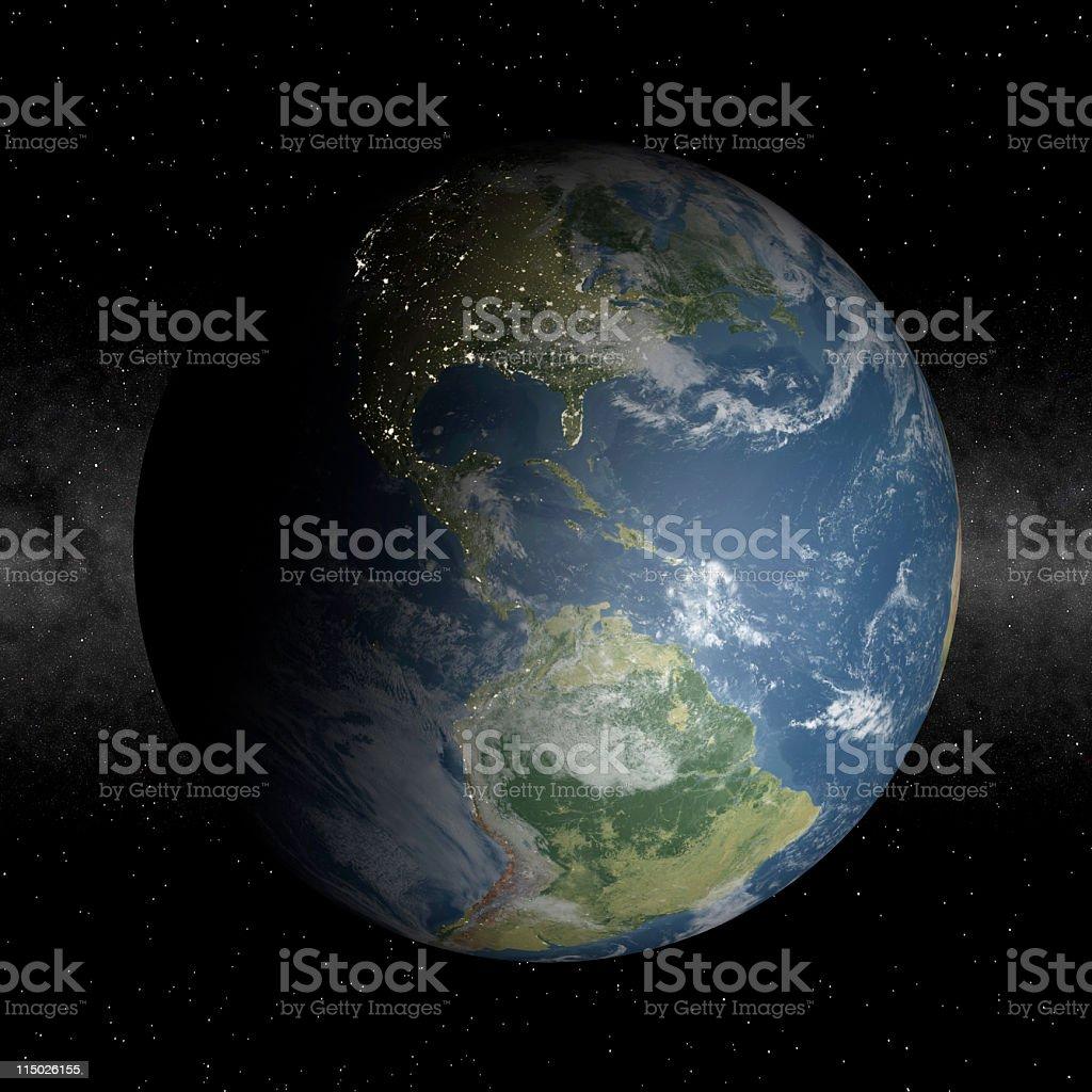 North America at night royalty-free stock photo