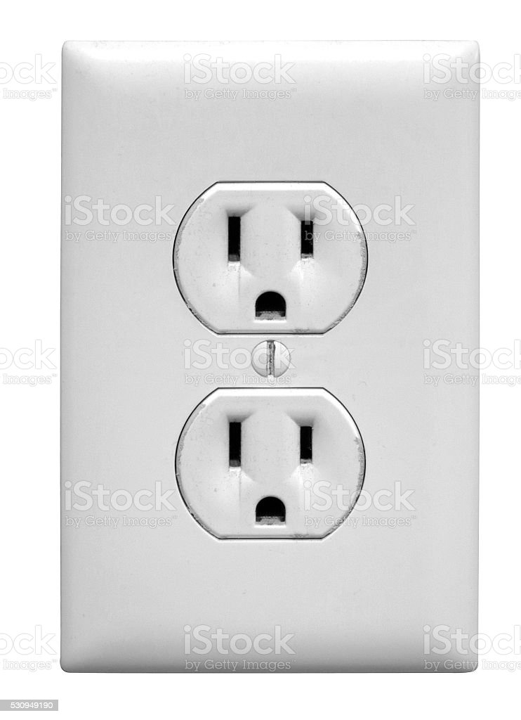 North America Electrical Outlet stock photo