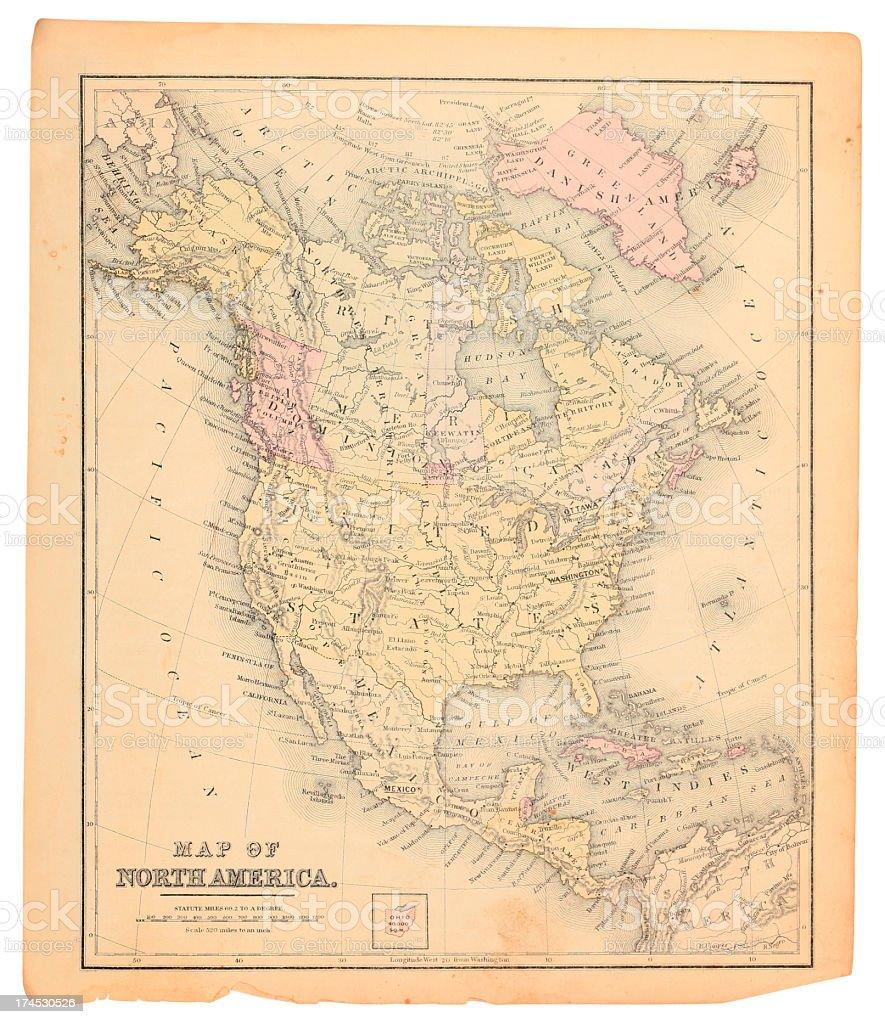 North America map stock photo