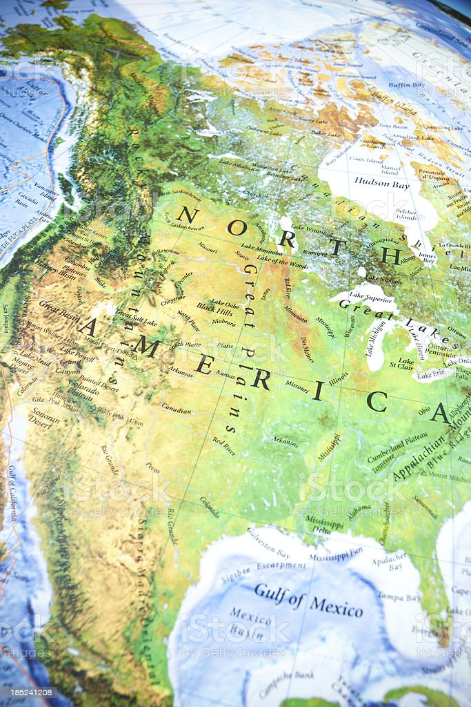 North America Map royalty-free stock photo