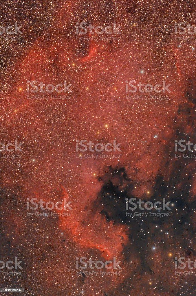 'North America' Nebula in Cygnus Constellation stock photo
