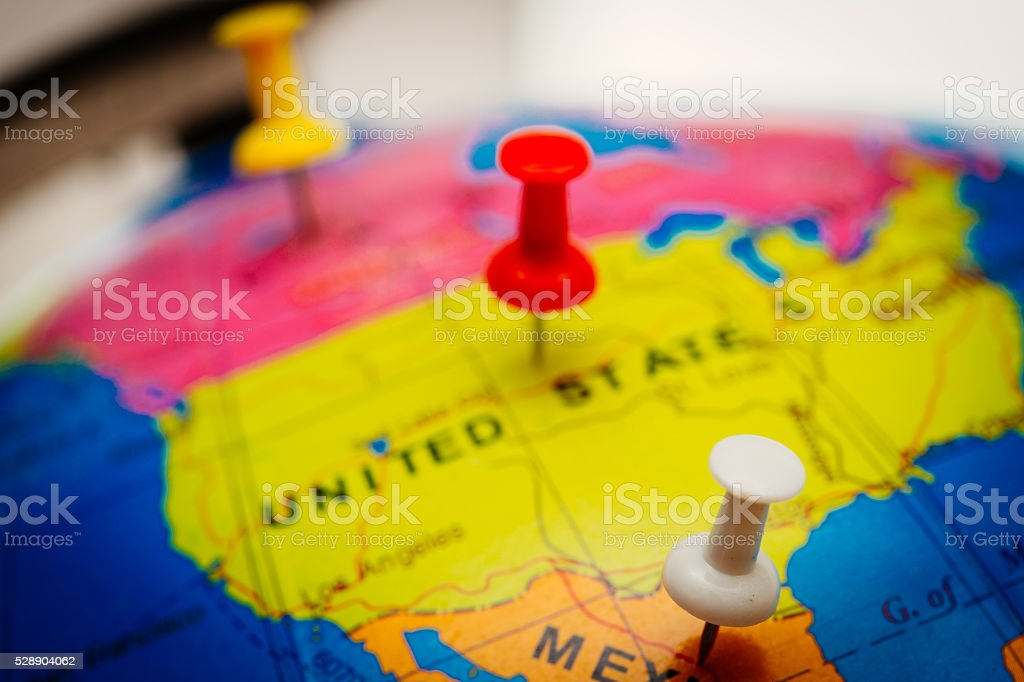 North America travel plan stock photo