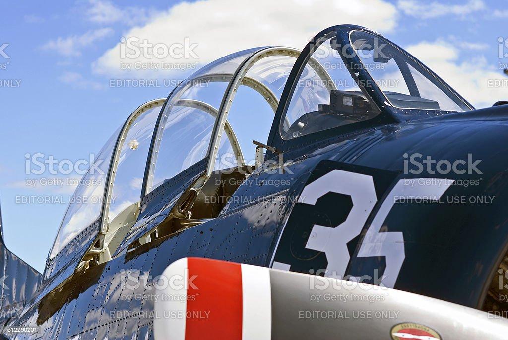 North American Aviation T-28 Trojan Airplane stock photo