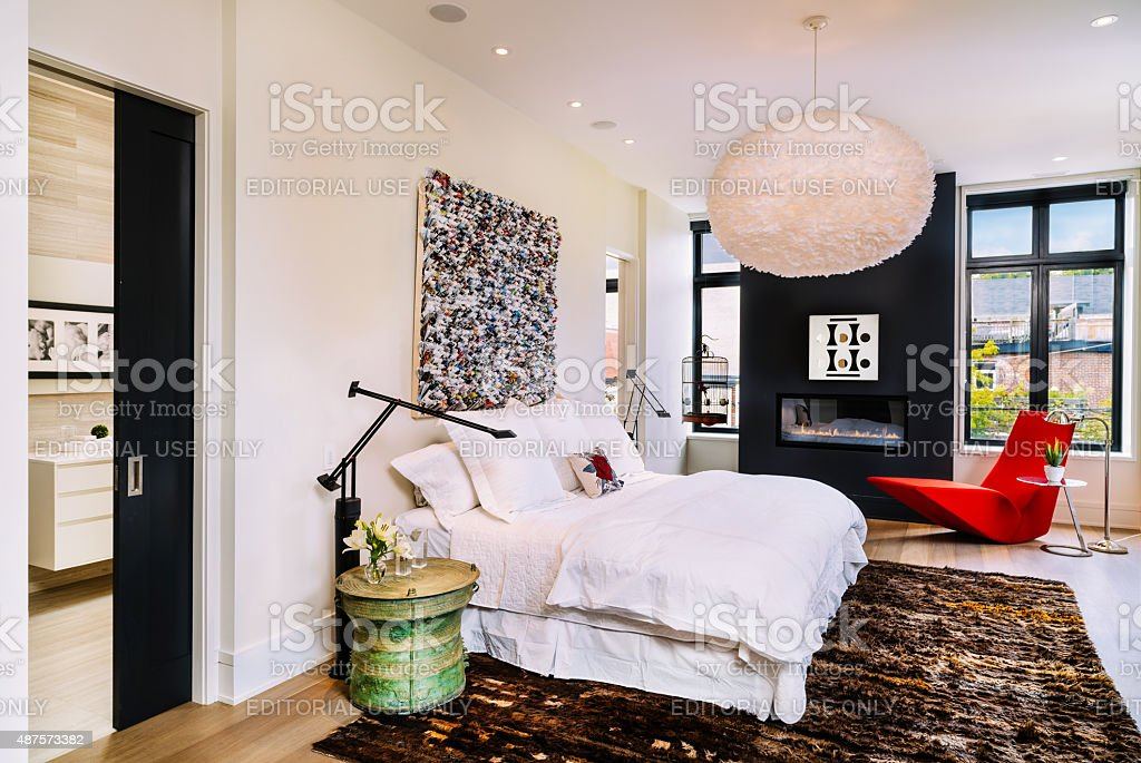North American Luxury Condo interior stock photo