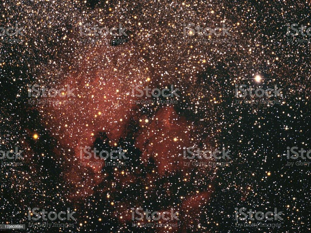 North American Nebula in Cygnus royalty-free stock photo