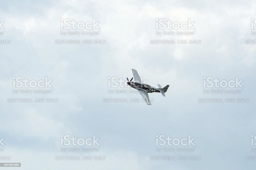 North American P-51 Mustang stock photo