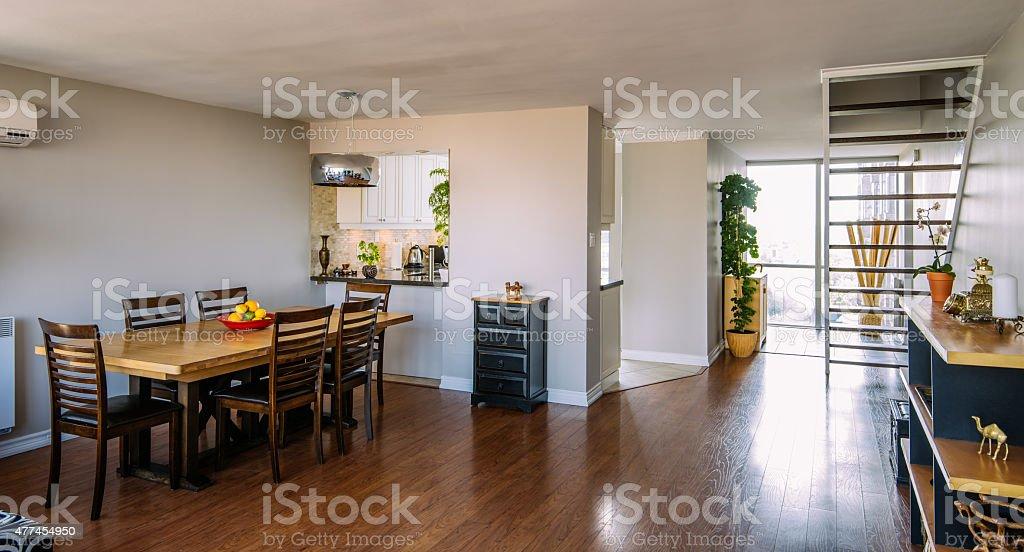 North American Rental Condo interior stock photo