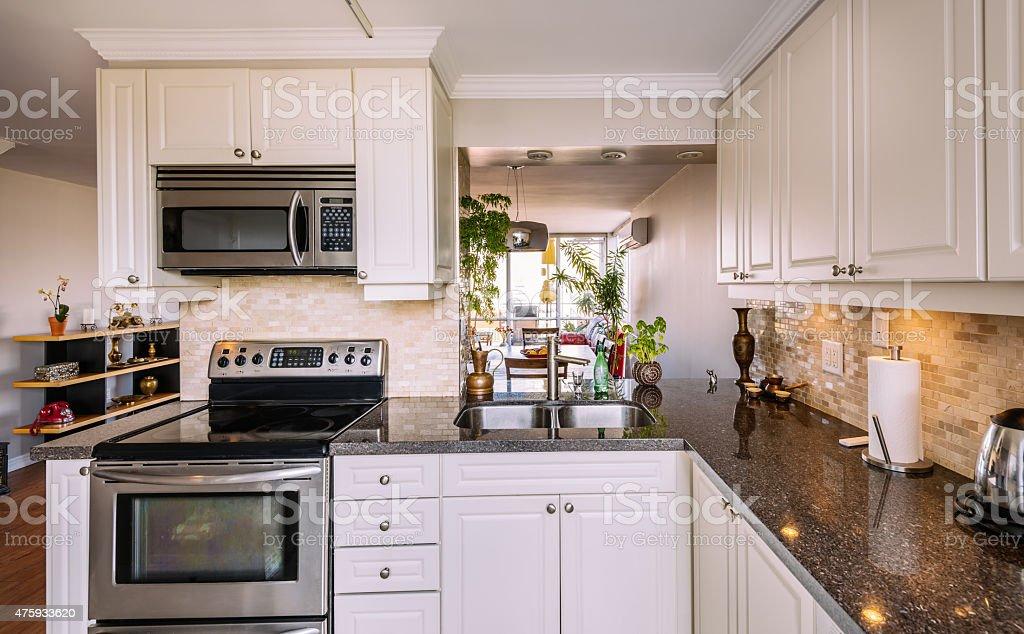 North American Rental Condo Kitchen stock photo