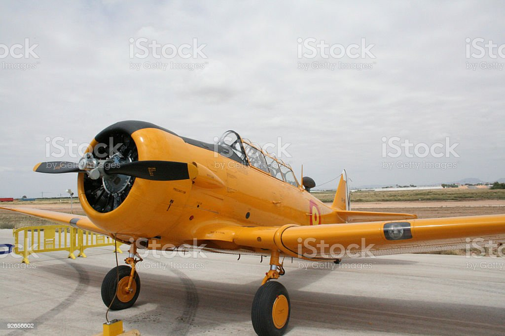 North American T-6 Airplane royalty-free stock photo