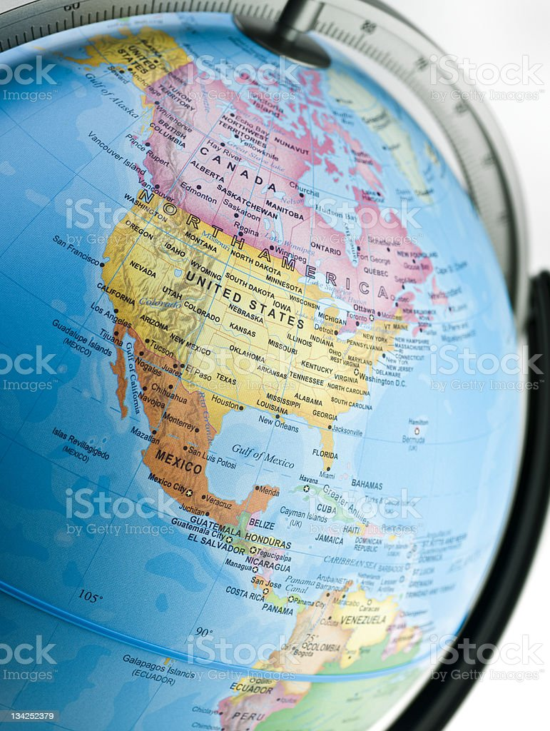North and Central American Pacific Coast royalty-free stock photo