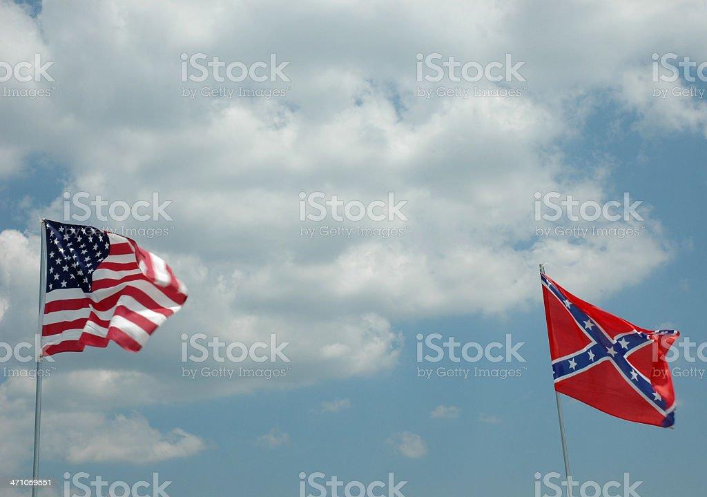 Флаги Северной и Южной Стоковые фото Стоковая фотография