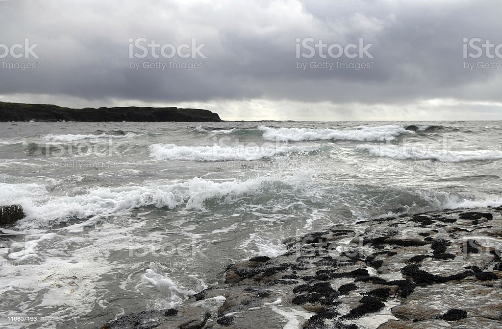 North Atlantic Ocean near  Cliffs Of Moher royalty-free stock photo