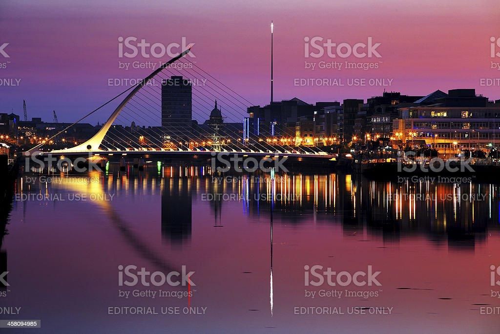 North bank of the river Liffey at Dublin City Center royalty-free stock photo