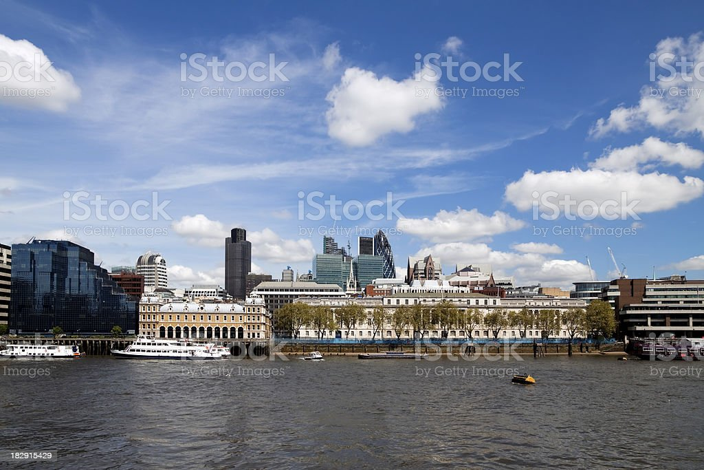 North Bank of the Thames with Old Billingsgate stock photo