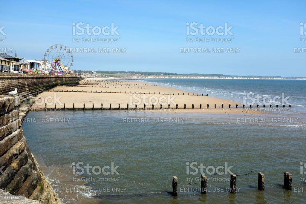 North bay beach, Bridlingtopn, Yorkshire. stock photo