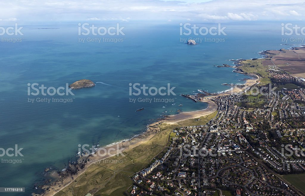 North Berwick from the air stock photo