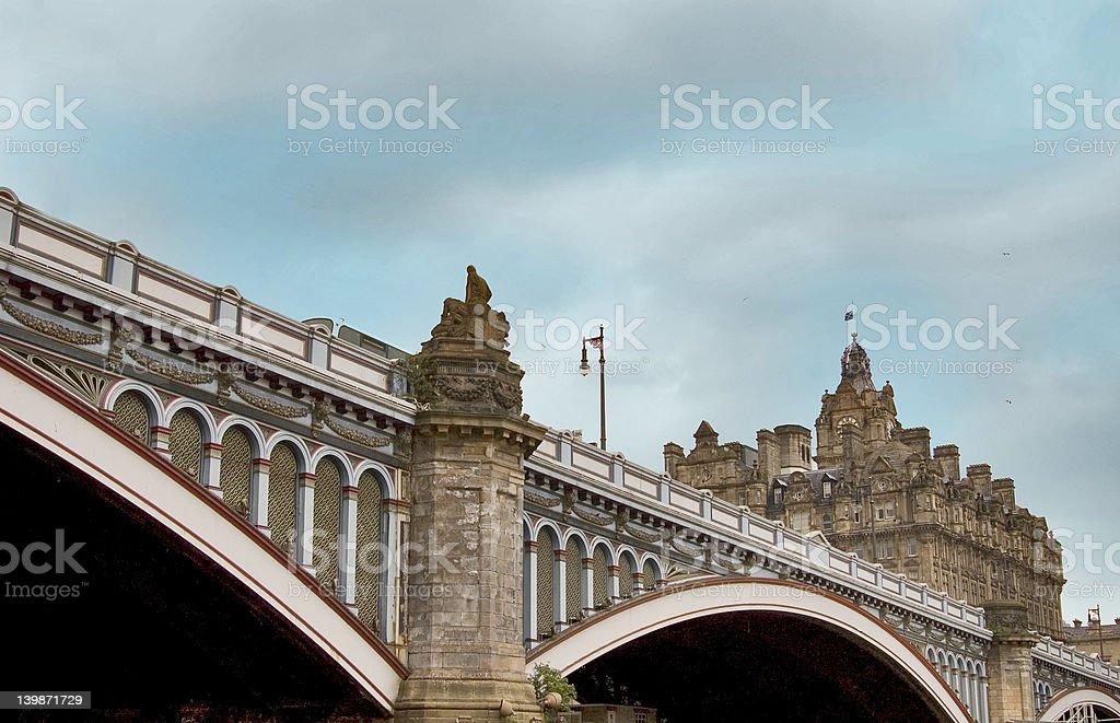 North Bridge Edinburgh ( The Bridges ) royalty-free stock photo