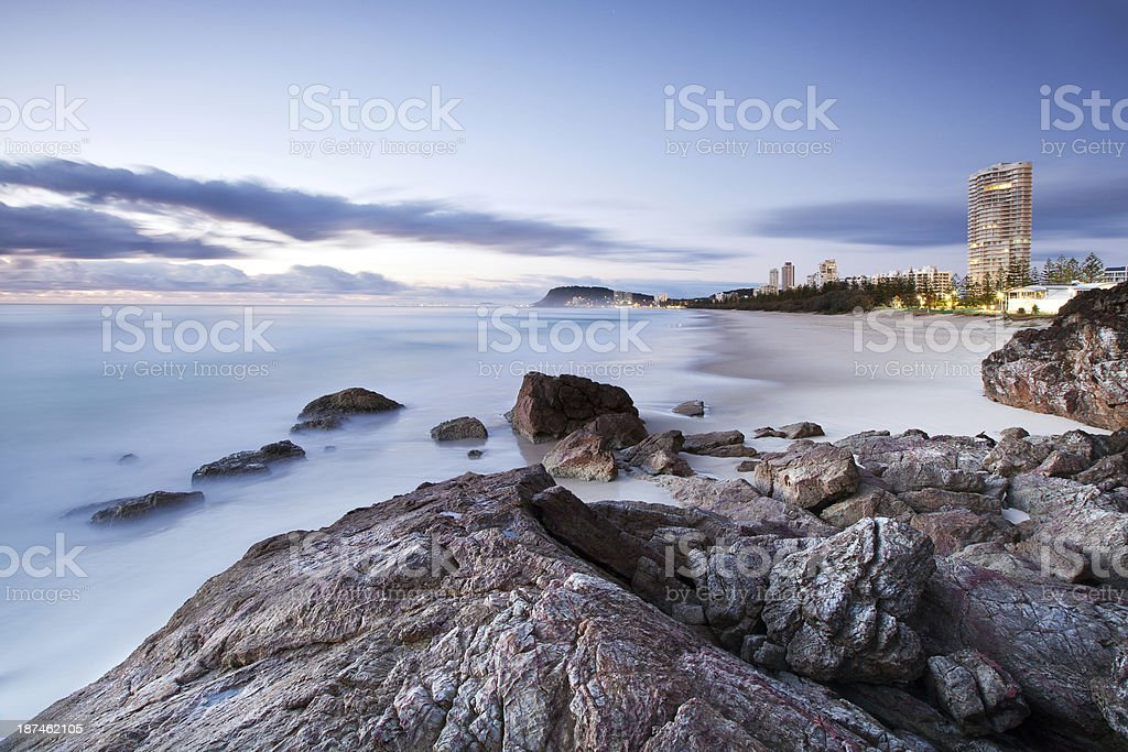 North Burleigh beach, Gold Coast, Queensland, Australia royalty-free stock photo