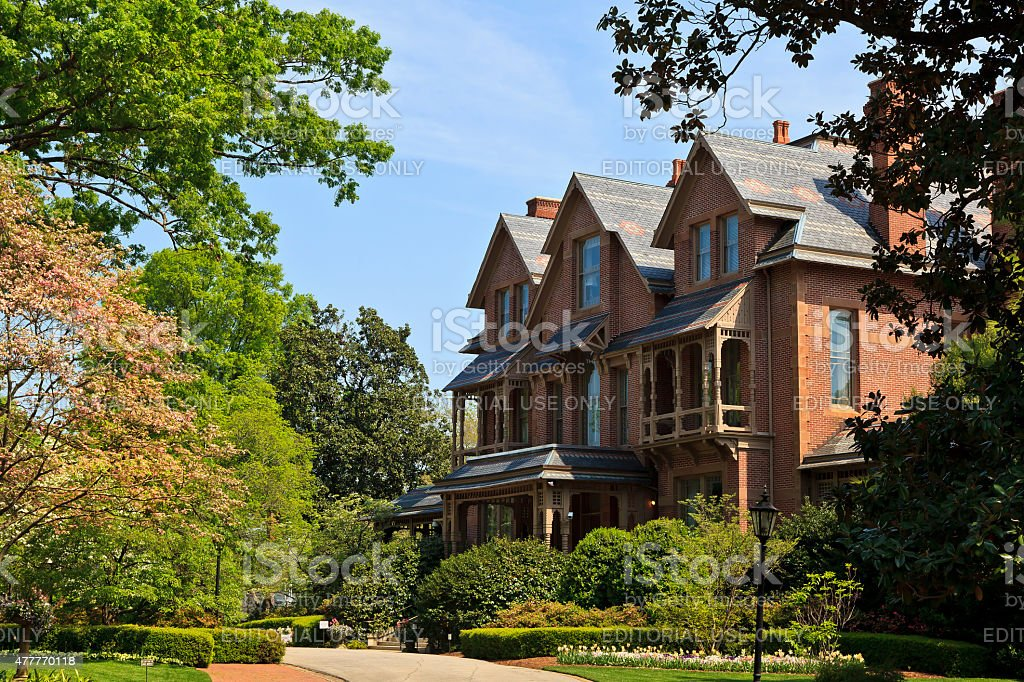 North Carolina Executive Mansion in Raleigh stock photo