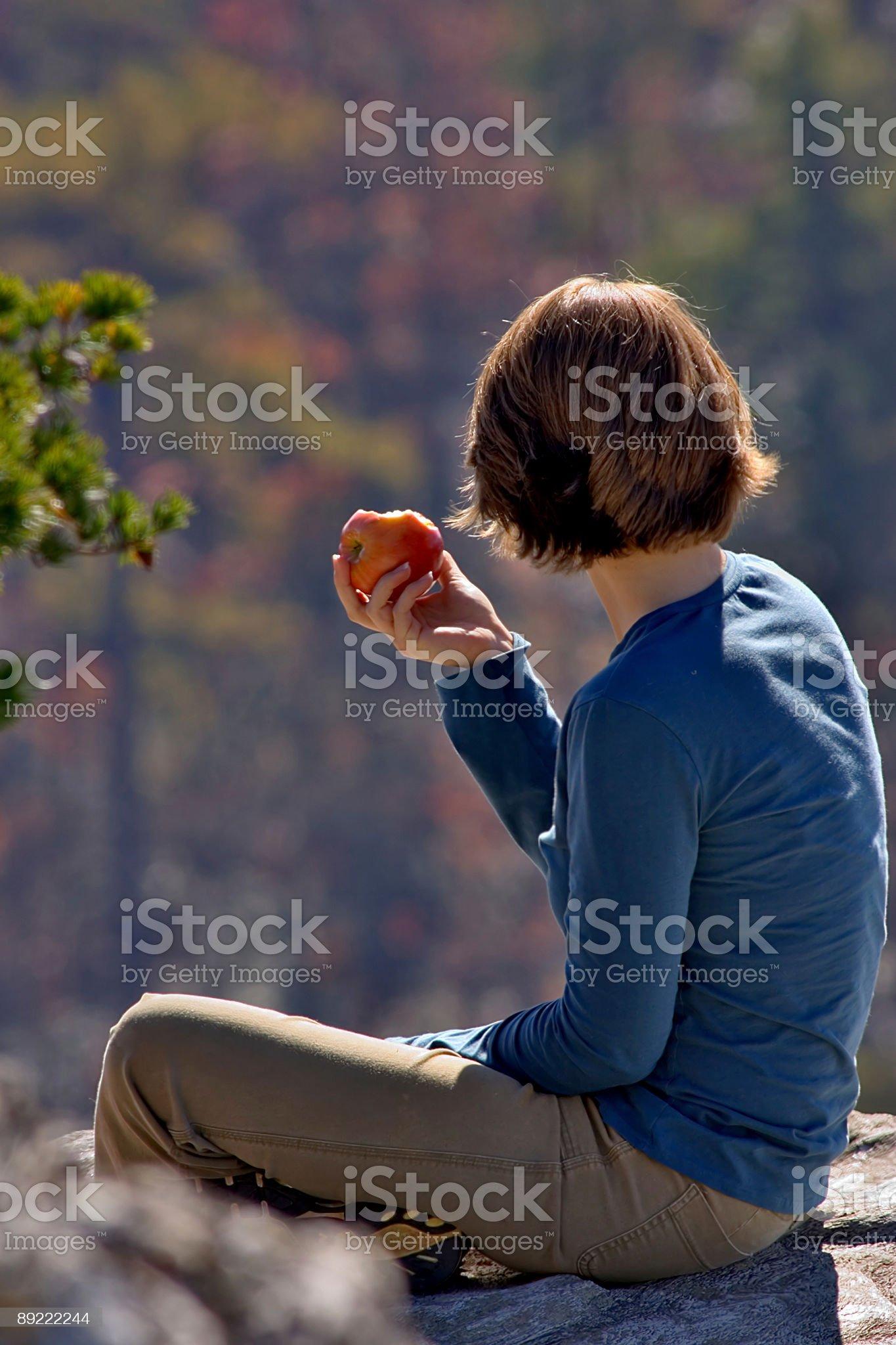 North Carolina fall at Hanging Rock State Park royalty-free stock photo