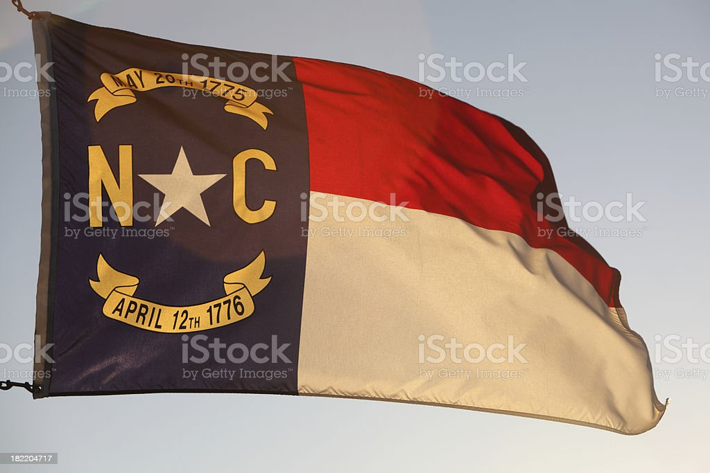 North Carolina Flag royalty-free stock photo