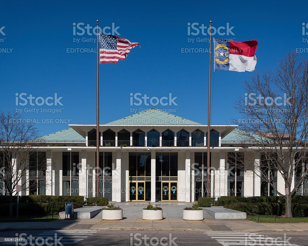 North Carolina Legislative building stock photo