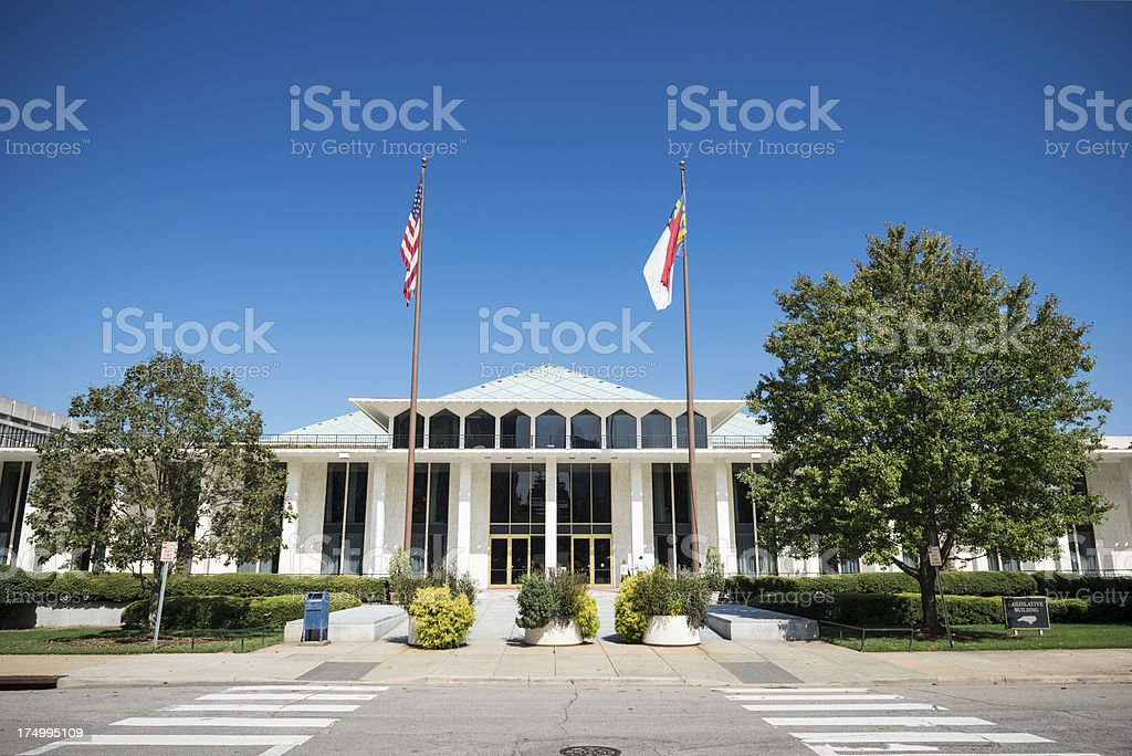North Carolina Legislative Building Raleigh stock photo