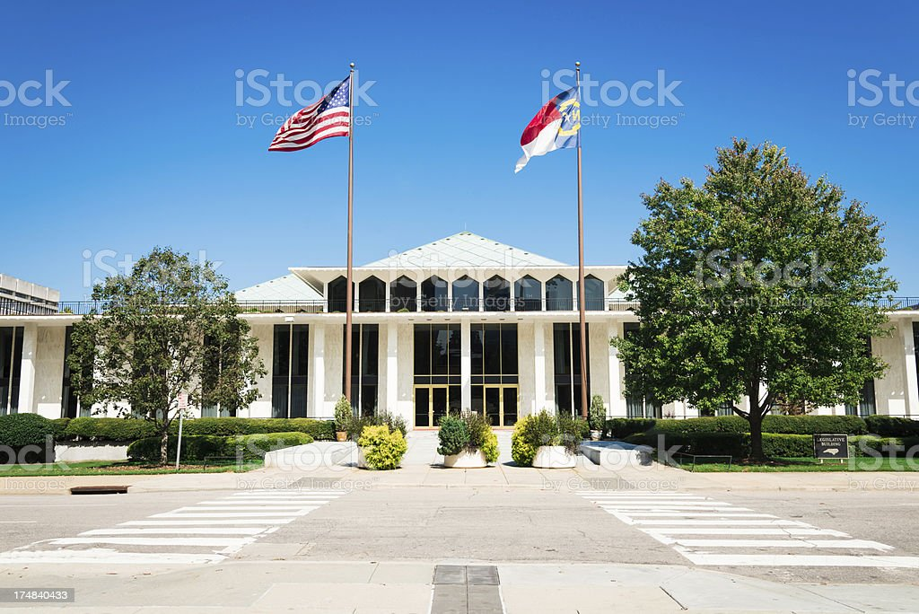 North Carolina Legislative Building Raleigh USA stock photo