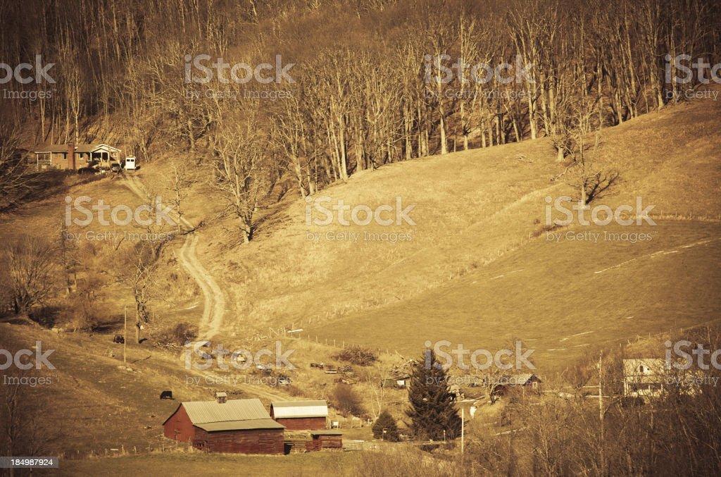 north carolina mountain landscape royalty-free stock photo