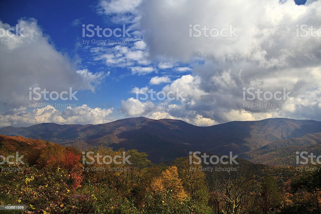 North Carolina Mountains in the Fall royalty-free stock photo