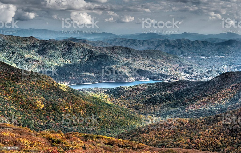 North Carolina mountains stock photo