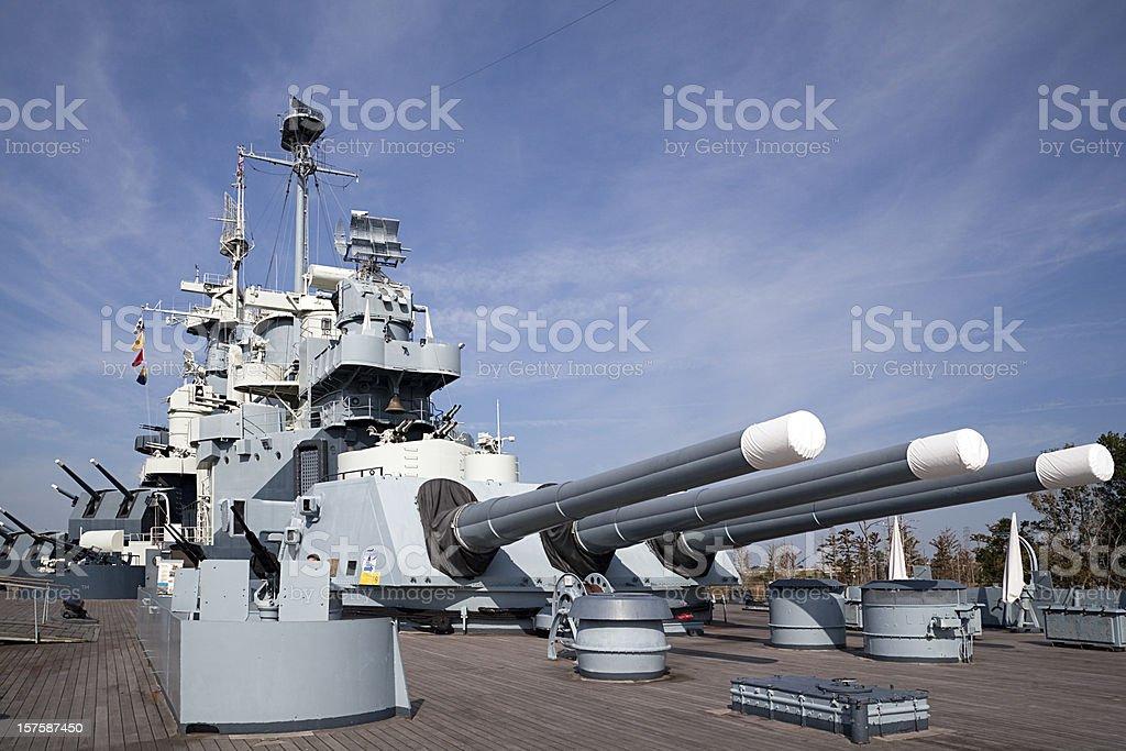 USS North Carolina stock photo