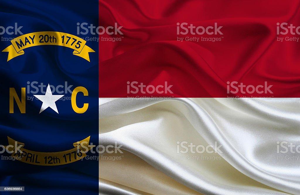 North Carolina State Flag stock photo