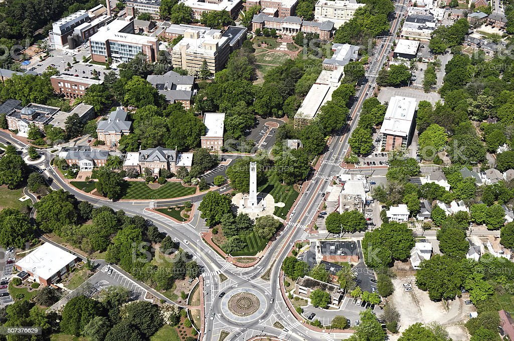 North Carolina State University - Aerial View stock photo