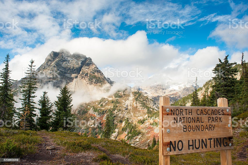 North Cascade Mountains royalty-free stock photo