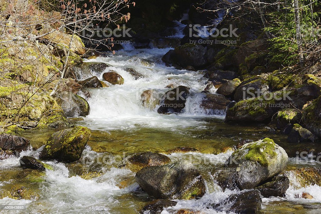 North Cascades Crystal Water stock photo